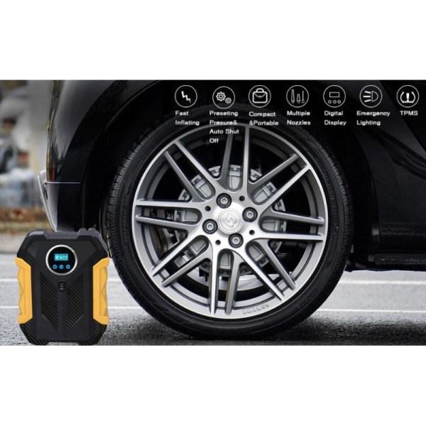 Κομπρεσέρ τρόμπα αέρος αυτοκινήτου με ψηφιακή ένδειξη- Carsun C1399
