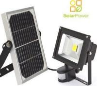 Ηλιακός LED προβολέας 20/200W με ανιχνευτή κίνησης & φωτοβολταϊκό συλλέκτη 10W