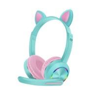 Ασύρματα ακουστικά - Cat Headphones K23 - Blue