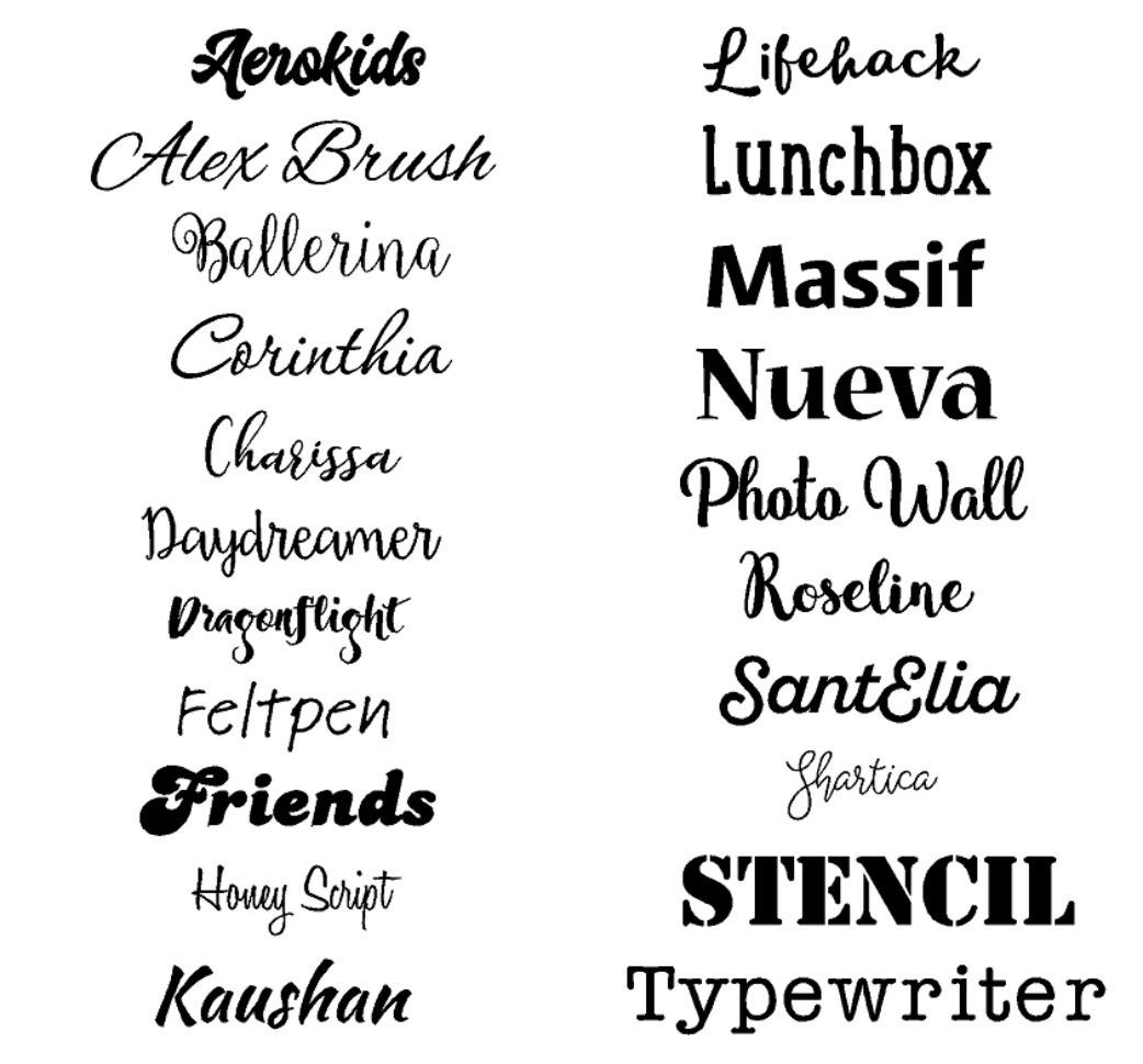 Cricut Script Font | Wiring Diagram Database
