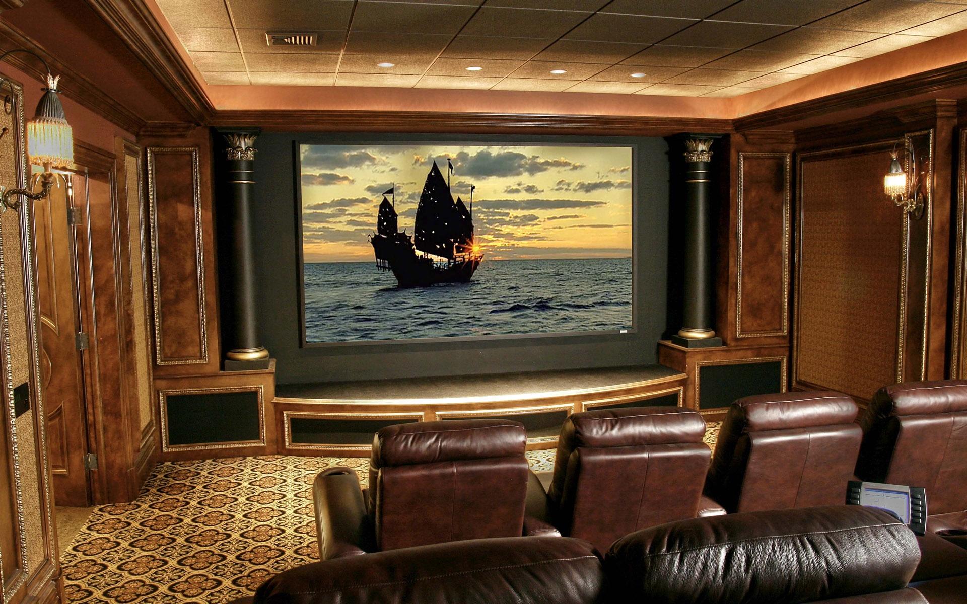 Imponerende Interir Stue Home Theater  nina design