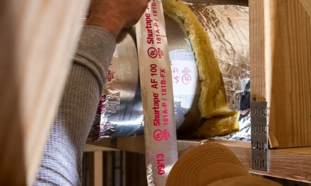 Why do some HVAC tapes have red print on them?