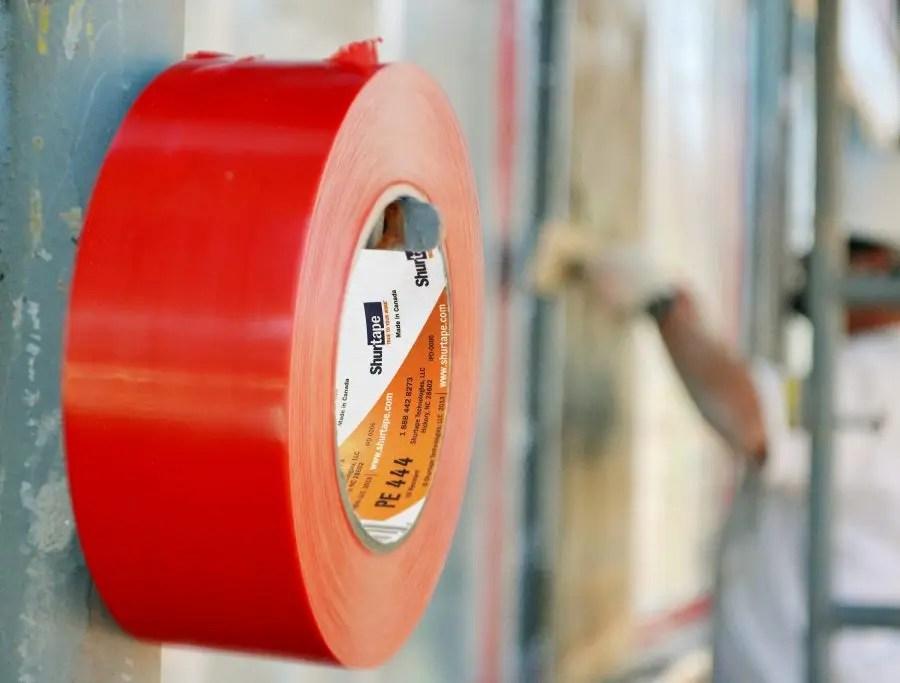 Red stucco masking tape