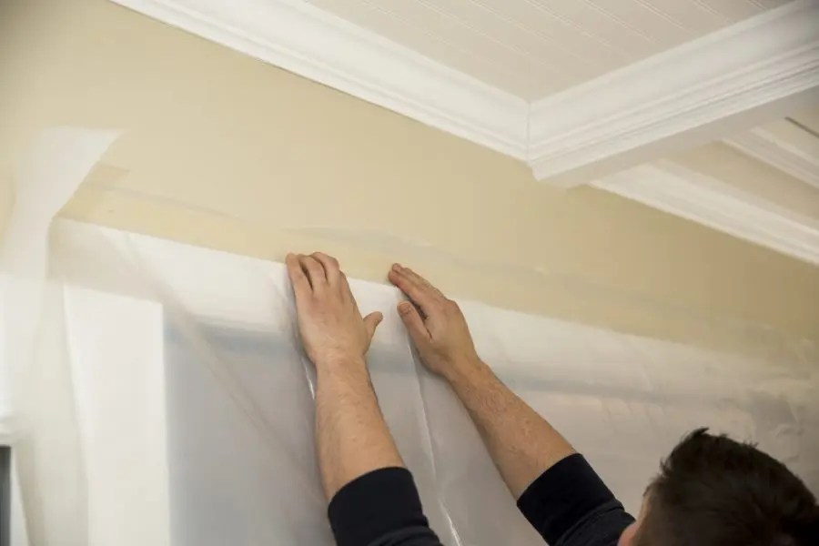 how to protect the walls when painting