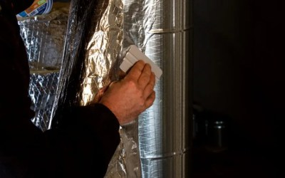 Why does tape often fail on reflective insulation?
