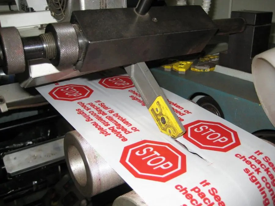 why do so many companies use printed packaging tape