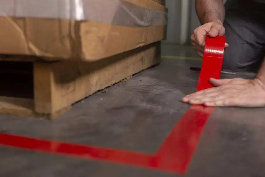 how is floor marking tape used to promote safety