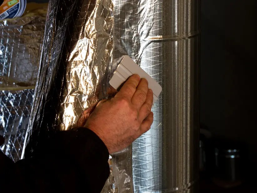 when should I use a film tape over a foil tape in HVAC