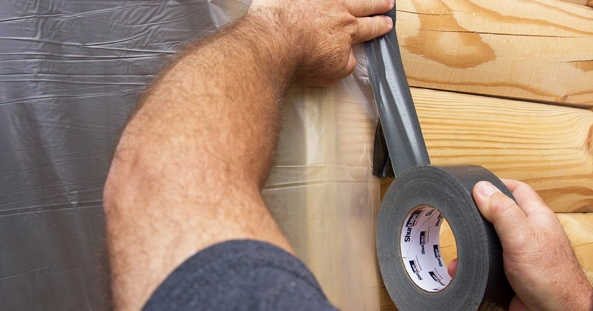 duct tape being used for abatement