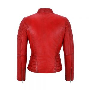 Genuine Sheepskin Leather Biker Jacket