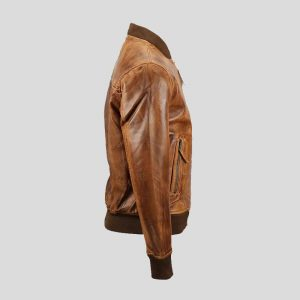 Men's Bomber Lambskin Leather Jacket