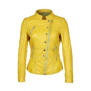 Women Lambskin Leather Biker Jacket