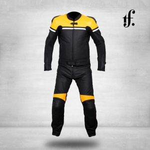 Custom Design Motorbike Racing Cowhide Leather Suit
