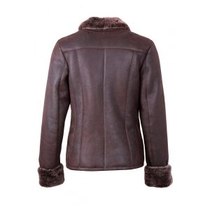 Gillian Style Sheepskin Aviator Leather Jacket