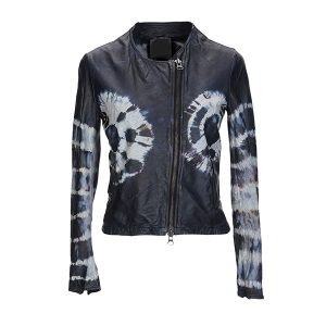High-Quality Printed Leather jacket