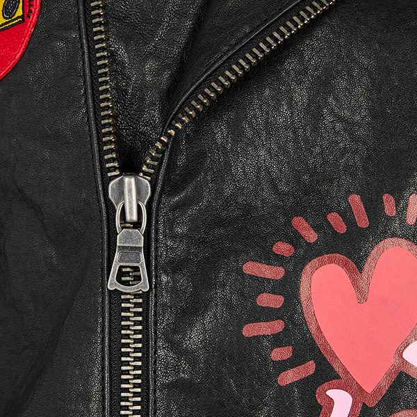 Keith Haring Cody printed leather jacket