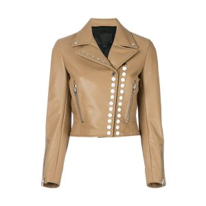 Studded Style Women Leather Jacket