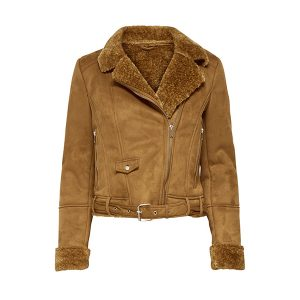 Shearling Biker Leather Fashion Jacket