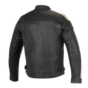 Slim-fitting Motorcycle Leather Jacket