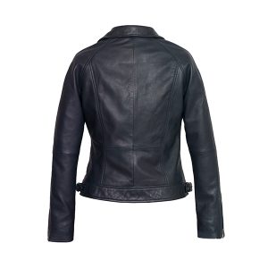 Women's Navy Leather Jacket