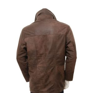 Mens Chestnut Leather Coat