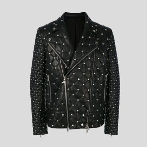 Studded-Punk-Men-Leather-Jackets-with-Front