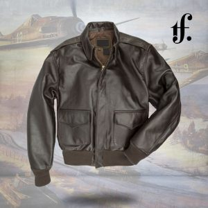 WWII Government Issue A-2 Leather Long Jacket
