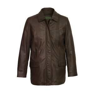 Women's Brown Leather Coat