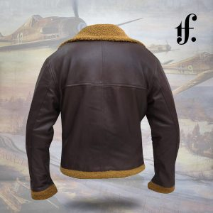 Mens Aviator B3 Leather Bomber Jacket