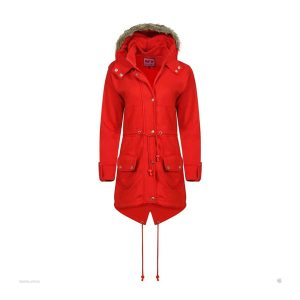 Red Colour Coat for Girls and Jacket Hooded Fleece Coat Plus - Tapfer