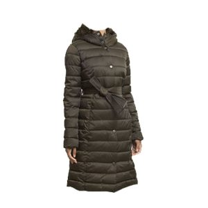 New Long Puffer Coat for Women with Belt - Tapfer