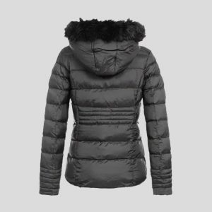 New Style Black Fur Bubble Jacket for Women – Tapfer