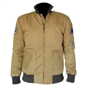Fury Brad Pitt Us Army Tanker Ww2 Military Bomber Cotton Jacket