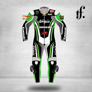 Kawasaki Customize Motorbike Leather Racing Suit