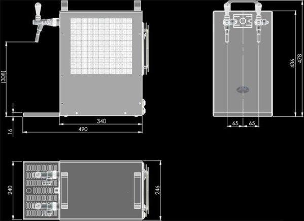 Lindr Kontakt 70/K dimensions