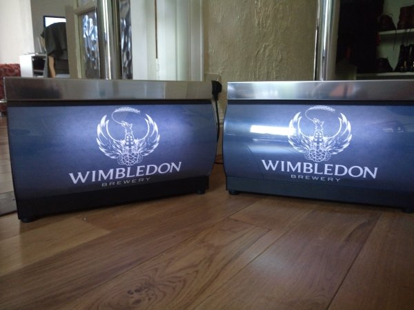 Wimbledon Brewery Branding on 55/K