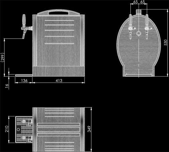 Lindr Soudek 50/K dimensions