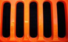 Orange car grill