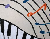 music staff and piano keys