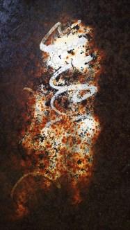Abstract pattern of orange rust