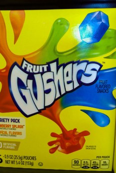 Fruit Gushers (the *real* candy crush?)