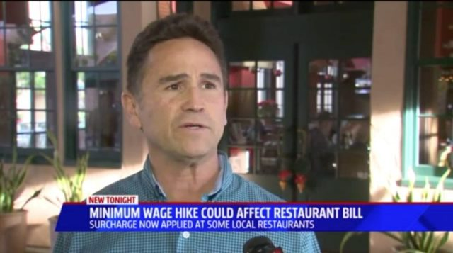 Julian Gallardo Receives Restaurant Bill With Charge For Wage Increase