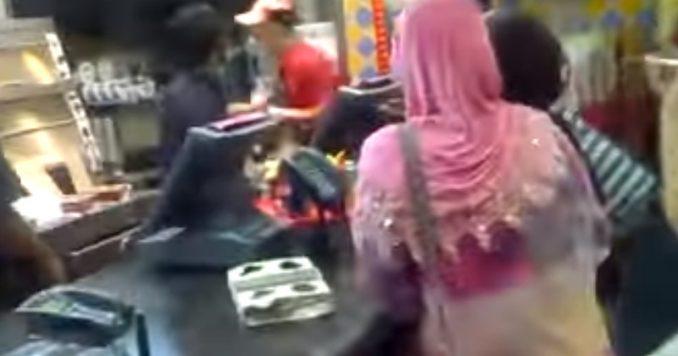 Muslim KFC Employee Screams, Threatens Customer Who Wants Bacon