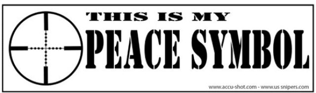 Peace Symbol On Bumper Sticker Leaves Gun Control Activists Outraged