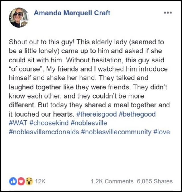 Amanda Craft Snaps Viral Photo Of Strangers Sharing A Meal