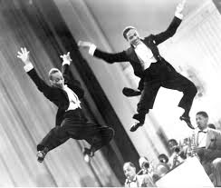 """Fayard Nicholas 1914-2006 and Harold Nicholas 1921-2000 Better known as the Nicholas Brothers. Wowed people with their """"flash dancing"""" and highly energetic tap dance productions, said to be the greatest tap dancers of their day, famous for """"Jumpin' Jive (with the Cab Calloway Orchestra) and the film Stormy Weather"""