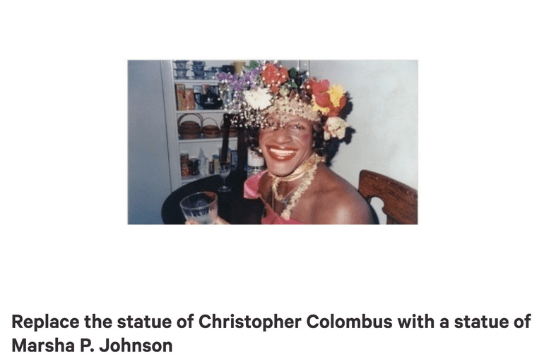 Thousands Sign Petition To Replace Columbus Statue With
