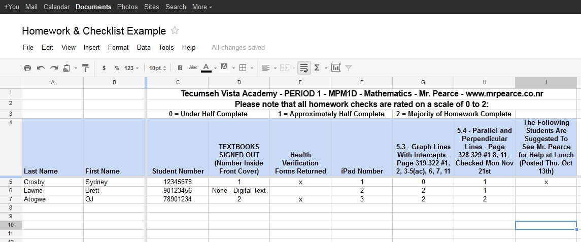 How To Use Public Google Spreadsheets For Assessment - Create checklist in google docs