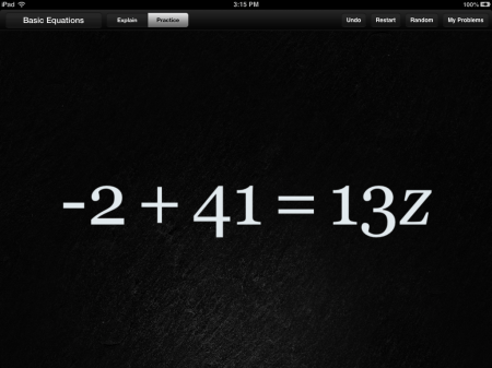 Algebra Touch Math iPhone iPad App | Opposite Operations