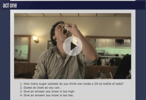 Dan Meyer's Sugar Packets Three-Act Math Task